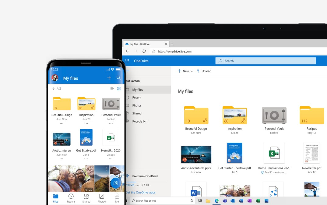 Microsoft OneDrive update introduces dark mode and ups file size limit to 100GB